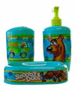 Scooby Doo Toothbrush, Soap/Lotion Pump, and Soap Tray Bathroom Set - Scooby Doo Bathroom Set ( 3pk)
