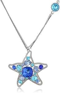 "Betsey Johnson ""Iconic Blue Sea"" Star Fish Pendant Necklace, 19"""
