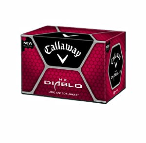 Callaway HX Diablo Golf Balls (12 Pack, White)
