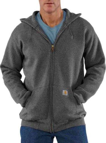 Carhartt® Midweight Hooded Zip-Front Sweatshirt, CHARCOAL, 2XL