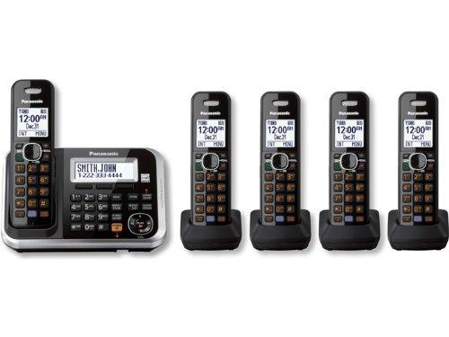 Panasonic KX-TG6845B DECT 6.0 5-Handset Cordless Telephone