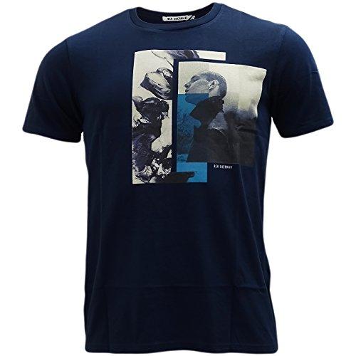 Ben Sherman -  T-shirt - T-shirt  - Basic - Maniche corte  - Uomo Navy X-Large