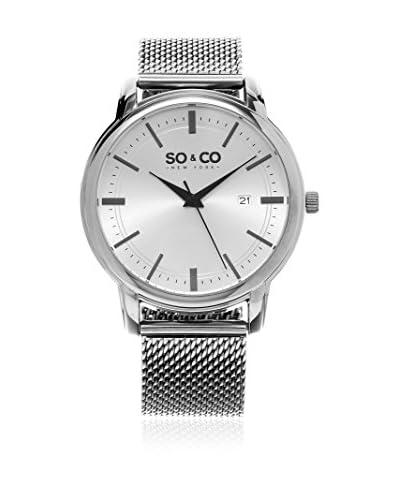 SO & CO New York Reloj con movimiento cuarzo japonés   41 mm