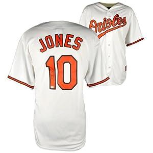 Adam Jones Baltimore Orioles Autographed Home White Replica Jersey - Mounted Memories... by Sports Memorabilia