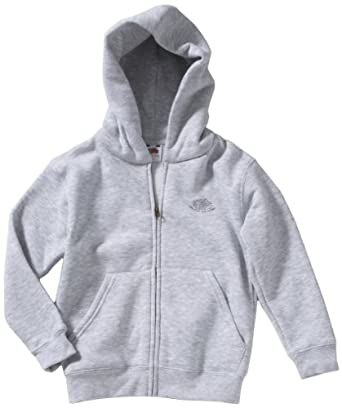 Fruit Of The Loom - Sweat-Shirt - À Capuche - Manches Longues Mixte Bébé - Gris - Grau (94 Graumeliert) - FR : 13-14 Ans (Taille Fabricant: 164) (Brand size: 164)