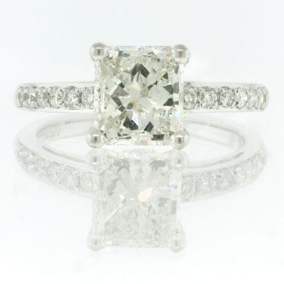 2.42ct Radiant Cut Diamond Engagement Anniversary