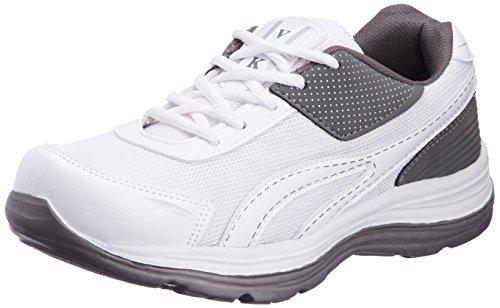 Vokstar Men's White and Grey Running Shoes - 8 UK (V229)