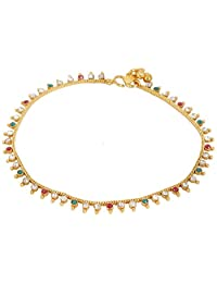 Jewels N Healing Designer Collection Gold Plated Anklet For Girls - JA 202