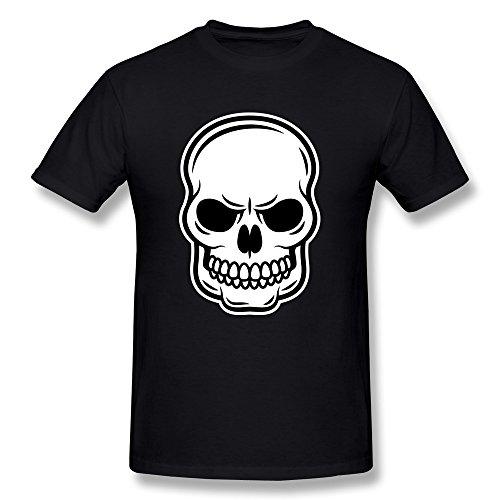 Facai Men'S Scary Skull Cotton T Shirt Xxl Black