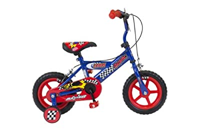 Sonic Zoom Boys Bike - Blue/Red, 12 Inch