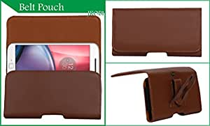 Jkobi Exclusive Belt Case Mobile Leather Carry Pouch Holder Cover With Belt Clip Compatible For LG Optimus 3D -Brown