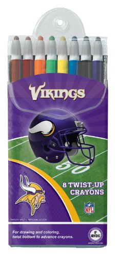 Minnesota Vikings Twist-Up Crayons, 8 Pack - Nfl (12018-Qup) front-768224