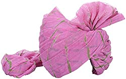 Jodhpuri Fashions Mens Cotton Turban (Pink, 8 Meters)