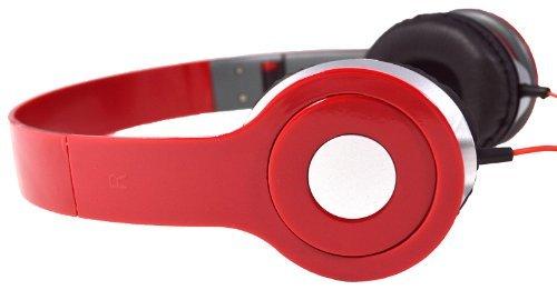 Red 3.5Mm Foldable Stereo Headphone Earphone Headset For Dj Psp Mp3 Mp4 Pc