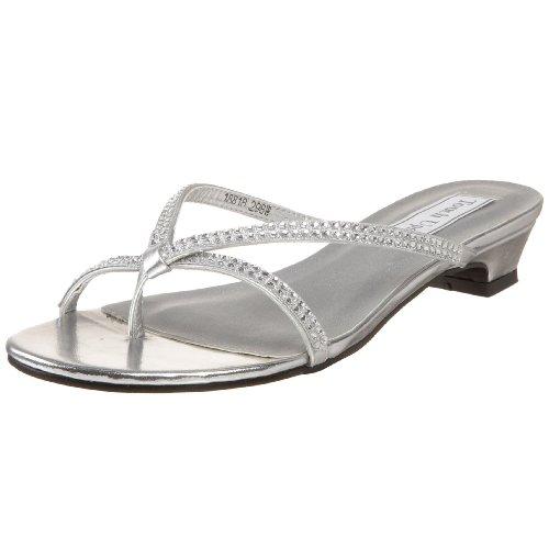 Womens Silver Dress Sandals