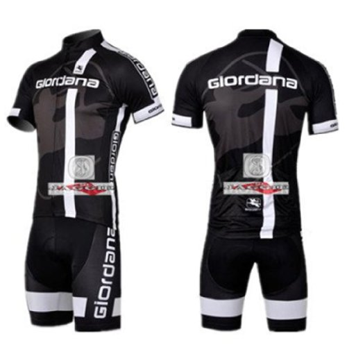 Giordana Short Sleeve Cycling Jerseys Wear Clothes Bicycle/ Bike/ Riding Jerseys + Bib Pants Shorts Size L