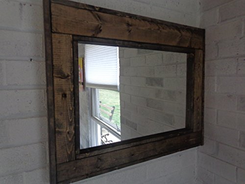 Reclaimed Wood Mirror - Large Wall Mirror - Rustic Modern Home - Home Decor - Mirror - Housewares - Woodwork - Frame - Stained Mirror