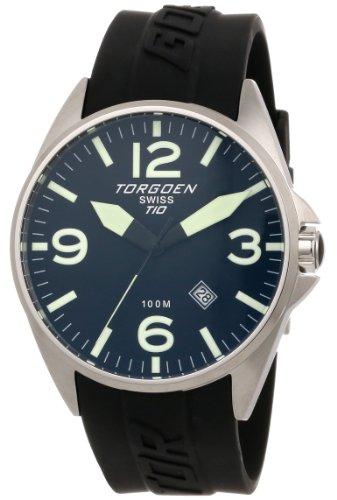 TORGOEN Swiss T10303 - Reloj de pulsera hombre, plástico, color negro