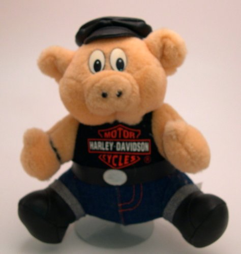 "7"" Tall Harley Davidson Hog Plush - 1"