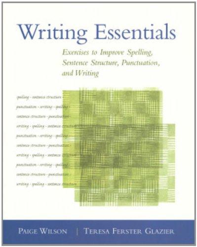 Writing Essentials: Exercises to Improve Spelling,...