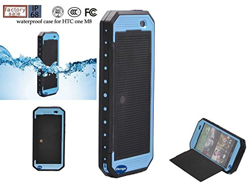 Nancy'S Shop Dot View Matrix Case Cover For Htc One M8 Waterproof Dirtproof Snowproof Shockproof Skin Hard Phone Shell For Htc One M8 (Sky Blue)