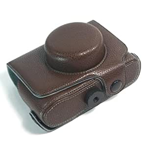 Brown / PU Leather Camera Case for OLYMPUS E-P3 (1656-1)