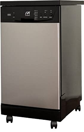 SPT 18-Inch Portable Dishwasher, Stainless Steel