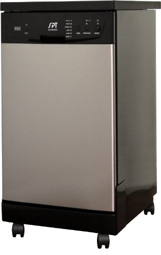 SPT 18 Inch Portable Dishwasher, Stainless Steel