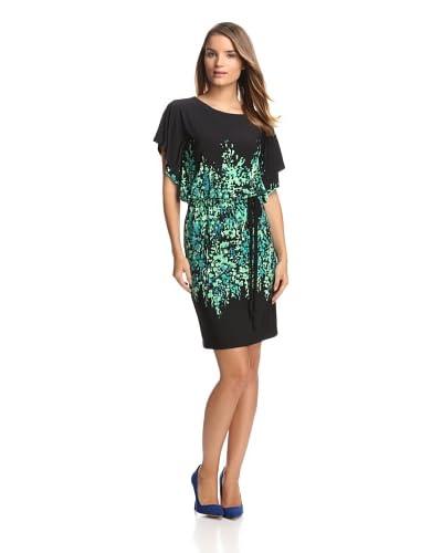 Chetta B Women's Paintbrush Print Blouson Dress