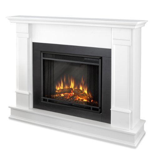 Real Flame Silverton G8600-X-W Electric Fireplace In White - Mantel Only
