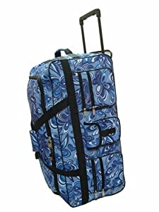 Wheeled Holdall 30 inch Floral Luggage Bag on Wheels 605FB