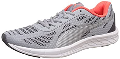 Puma Women's Meteor Wn's Idp Quarry, Puma Silver and Red Blast Running Shoes - 3 UK/India (35.5 EU)