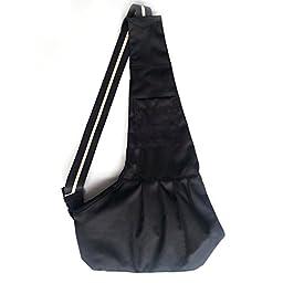 Mavogel Oxford Cloth Sling Pet Dog Cat Carrier Tote Single Shoulder Bag,Black,Small