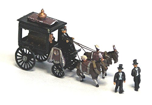 Horse Drawn Hearse with Figures and coffin. N Scale 1:148 UNPAINTED Model Kit. (Hearse Model compare prices)