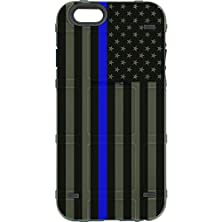 """buy Limited Edition - Authentic Made In U.S.A. Magpul Industries Bump Case For Apple Iphone 6/ Iphone 6S (Standard 4.7"""" Size) (Od Green Subdued Us Flag, Thin Blue Line)"""