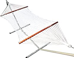 Hangit Cotton Rope Hammock Swing Outdoor furniture With Stand for Garden