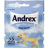 Andrex on the go toilet tissue 55 White Sheets