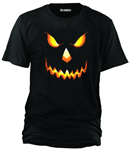 T-Shirt Halloween Pumkin Head, Gr.XXL