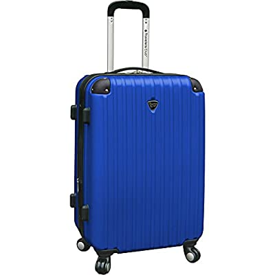 Travelers Club Luggage Chicago 24 Inch Hardside Expandable Spinner Suitcase