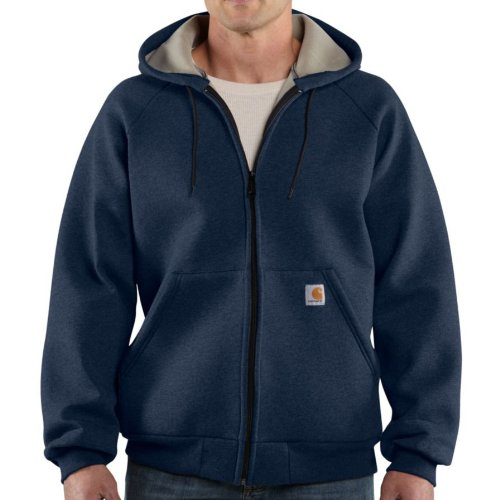 Carhartt Car-Lux Midweight Hooded Zip Front Sweatshirt Navy M,L,XL,XXL Mens
