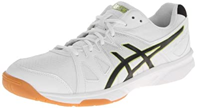 ASICS Men's Gel Upcourt Volley Ball Shoe,White/Black/Silver,6 M US