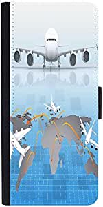 Snoogg Airplane Around The World Designer Protective Phone Flip Case Cover For Huawei Honor 5X