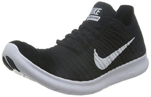 Nike Free Run Flyknit, Scarpe Running Donna, Nero (Schwarz/Weiß), 39 EU