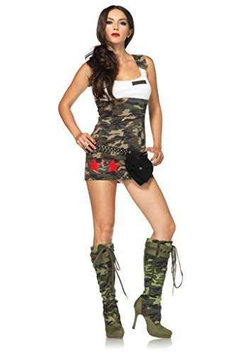Leg Avenue Womens Combat Cutie Camouflage Military Army Outfit Sexy Costume