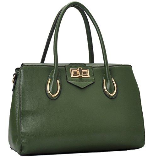 K68038L Mylux Women Fashion Designer Tote Handbag 1045Green