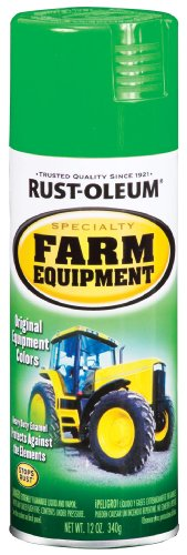 Rust-Oleum 7435830 Specialty Green John Deere Farm Equipment Enamel Spray, 12-Ounce