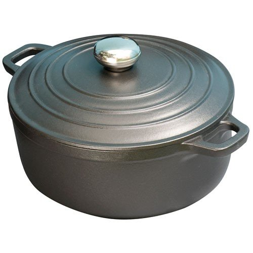 Chasseur 24cm, 1.5L Cast Iron Serving Casserole Dish, Black