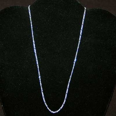 Thin Figaro Style Sterling Silver Chain (24