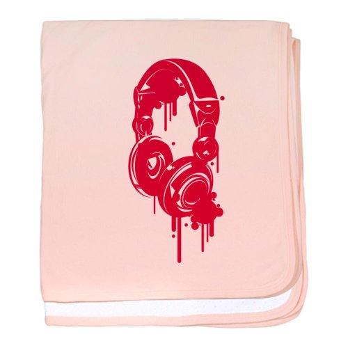 Cafepress Pink Dj Headphones Baby Blanket - Standard
