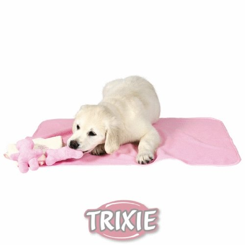 Welpen-Set, Decke, Spielzeug & Handtuch, rosa